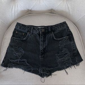 Top Shop Moto Mom Distressed Jean Shorts 🔥